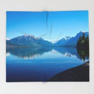 "East Glacier Park, Montana Bed Throw Blanket by Jonvillphotography - 88"" x 104"" Blanket"