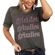 Montana Grizzlies Women's Better Than Basic Gameday Boyfriend T-Shirt - Charcoal