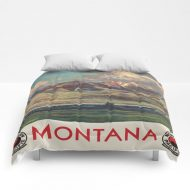 "Vintage Poster - Montana Comforters by Vintage Images - Full: 79"" x 79"""