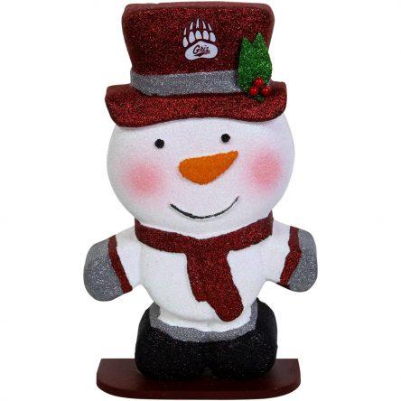 Montana Grizzlies Polystyrene Snowman Figurine