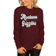 Montana Grizzlies Women's Game Plan Long Sleeve T-Shirt - Maroon