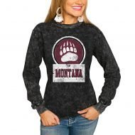 Montana Grizzlies Women's Good Vibes Long Sleeve T-Shirt - Charcoal