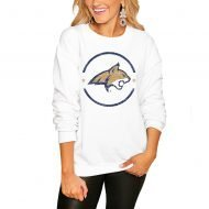 Montana State Bobcats Women's End Zone Pullover Sweatshirt - White
