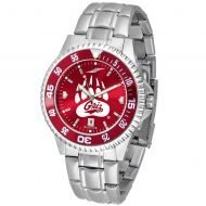 Montana Grizzlies Competitor Steel AnoChrome Color Bezel Watch - Maroon