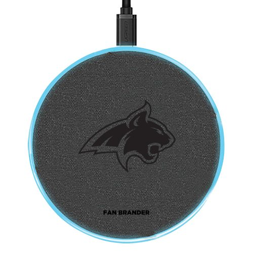 Montana State Bobcats 15W Laser Etched Wireless Charging Base - Gray
